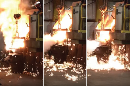 foundry pouring ladle